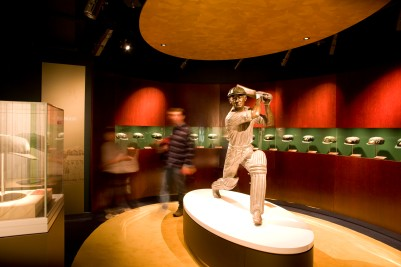 Don Bradman display at the National Sports Museum at the MCG