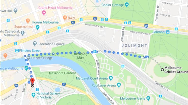 Dinner Walking Map